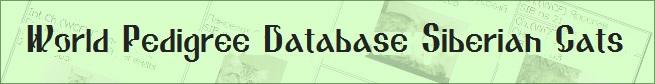 World Pedigree Database Siberian Cats
